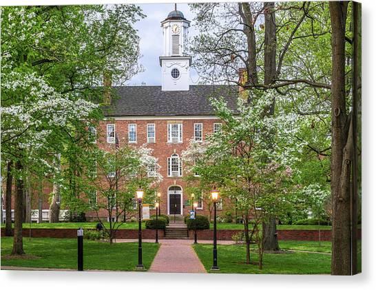 Ohio University Canvas Print - Ohio University Cutler Hall In Spring by Robert Powell
