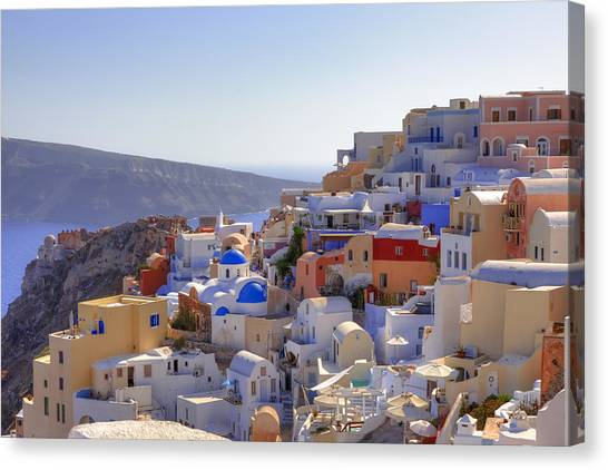 Islands Canvas Print - Oia - Santorini by Joana Kruse