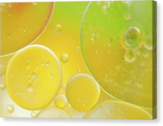 Oil And Water Bubbles  Canvas Print