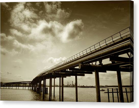 Oil Bridge II Canvas Print