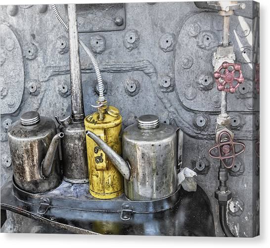 Oil Cans Canvas Print
