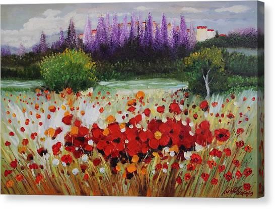 Oil Msc 031 Canvas Print