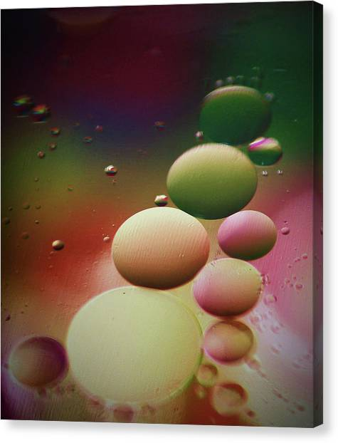 Oil Orbs And Colour Canvas Print