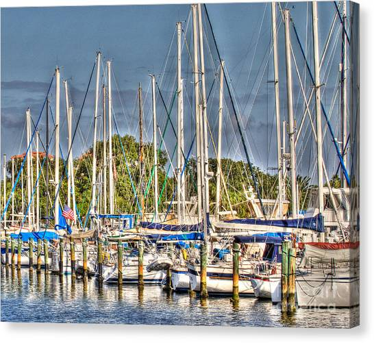 Oil Painting Marina Canvas Print