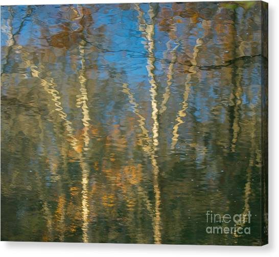 Oil Painting Trees Canvas Print