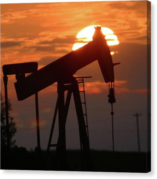 Oil Pump Jack 7 Canvas Print by Jack Dagley