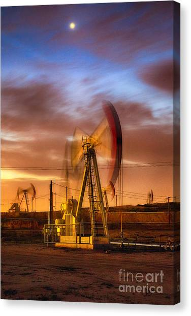 Oil Rig 1 Canvas Print