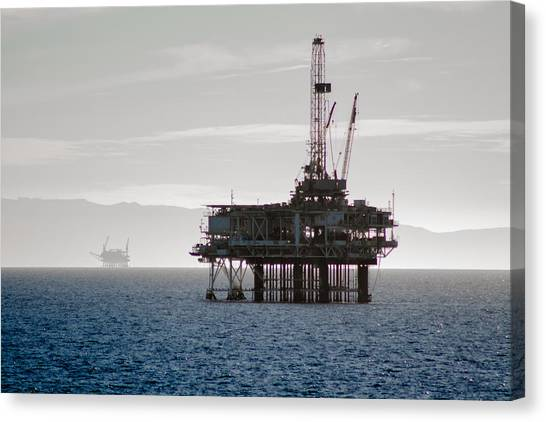 Saltwater Life Canvas Print - Oil Rig by Daniel Gilbreath