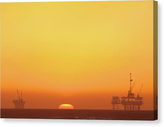 Oil Rigs Canvas Print - Oil Rig by Eric Lo