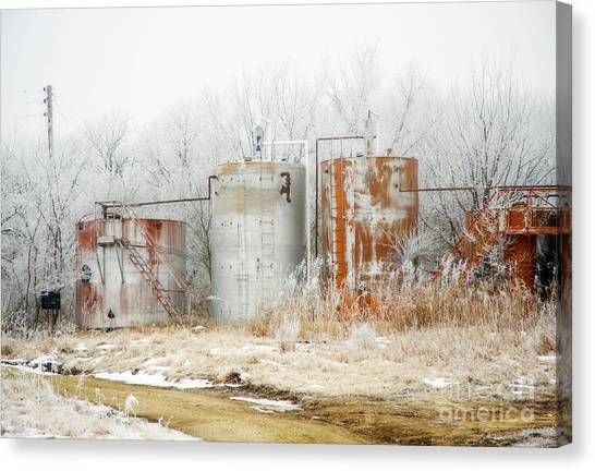 Oil Tank Farm Canvas Print by Fred Lassmann