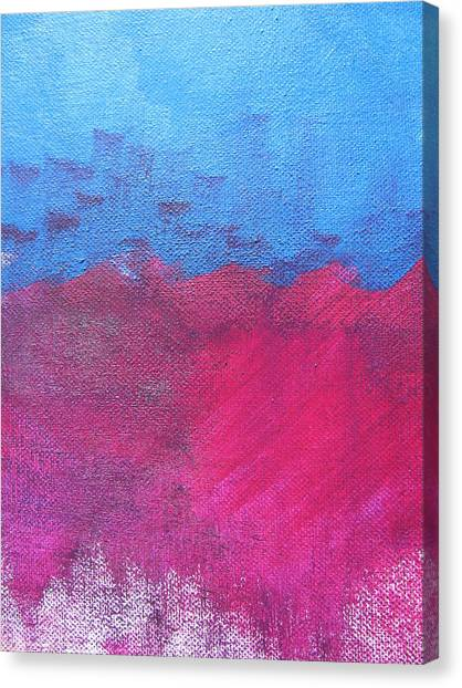 Oil Wave Canvas Print by Lindie Racz
