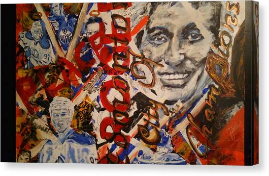 Wayne Gretzky Canvas Print - Oiler's Hockey by Rooster Art
