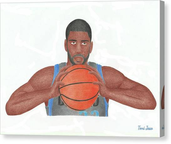 Milwaukee Bucks Canvas Print - O.j Mayo by Toni Jaso
