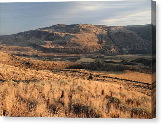 Okanagan Valley Sunset Glow Canvas Print by Pierre Leclerc Photography