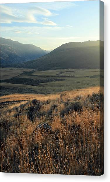Okanagan Valley Warm Glow Canvas Print by Pierre Leclerc Photography