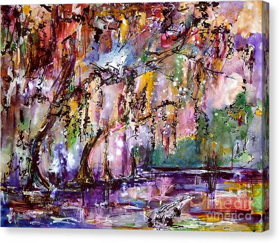 Okefenokee Canvas Print - Okefenokee Mystic Magic by Ginette Callaway