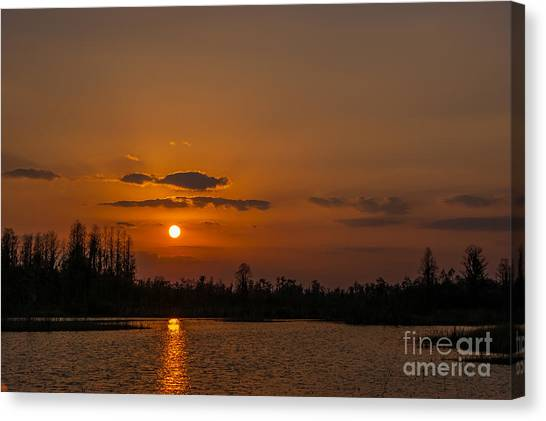 Okefenokee Canvas Print - Okefenokee Sunset by Southern Photo
