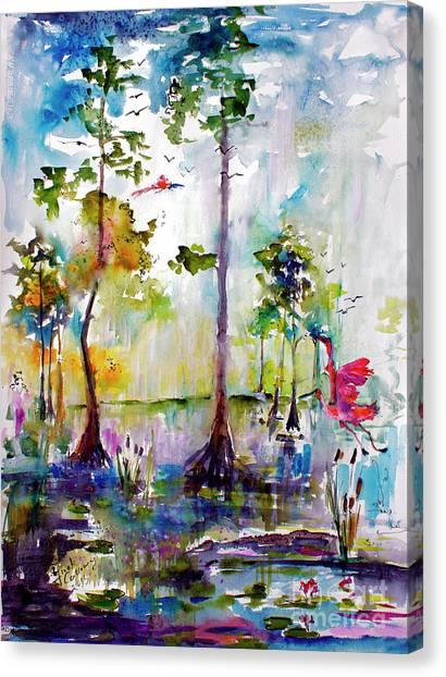 Okefenokee Canvas Print - Okefenokee Wild Free And Peaceful by Ginette Callaway