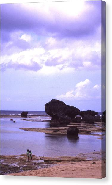 Okinawa Beach 20 Canvas Print by Curtis J Neeley Jr