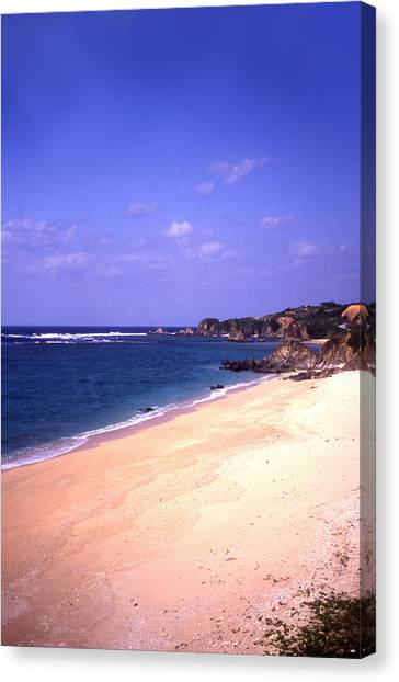 Okinawa Beach 22 Canvas Print by Curtis J Neeley Jr
