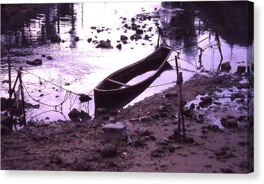 Okinawa Canoe Parking Canvas Print by Curtis J Neeley Jr