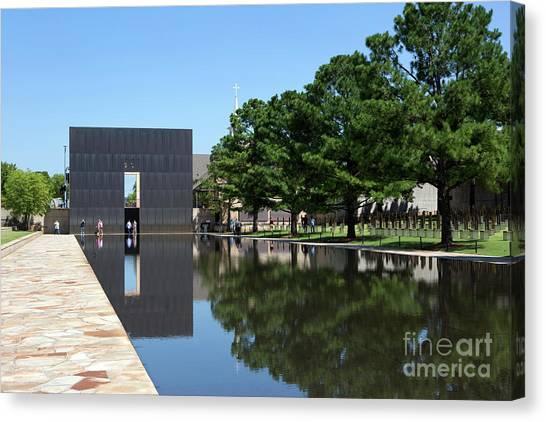 Oklahoma City National Memorial Bombing Canvas Print