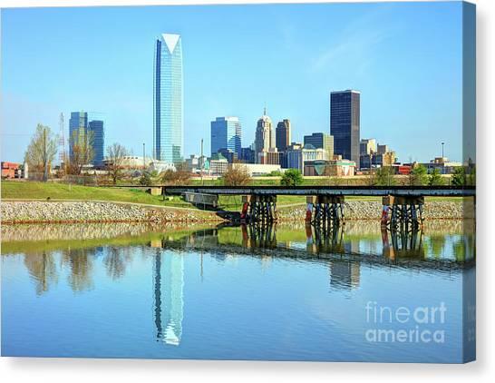 Oklahoma City Skyline Canvas Print by Denis Tangney Jr