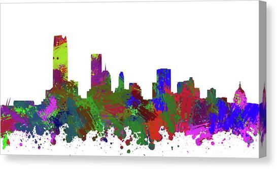 Ok Canvas Print - Oklahoma City Skyline Painted by Ricky Barnard