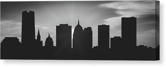 City Sunsets Canvas Print - Oklahoma City Sunset Usokoc-pa02 by Aged Pixel