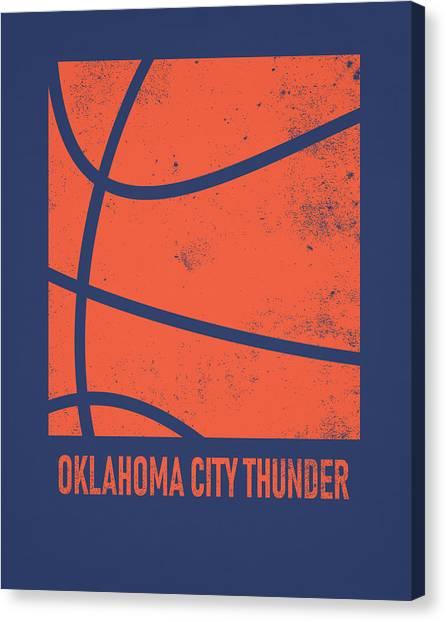 Oklahoma City Thunder Canvas Print - Oklahoma City Thunder City Poster Art 2 by Joe Hamilton