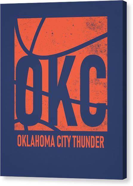 Oklahoma City Thunder Canvas Print - Oklahoma City Thunder City Poster Art by Joe Hamilton
