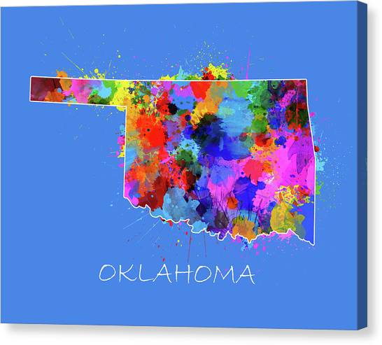 Oklahoma Map Canvas Prints Fine Art America