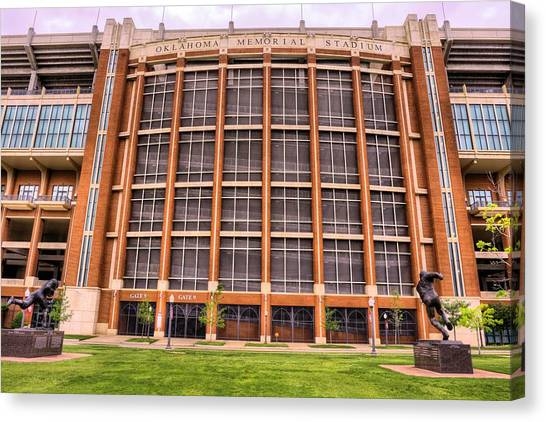Big Xii Canvas Print - Oklahoma Memorial Stadium by JC Findley