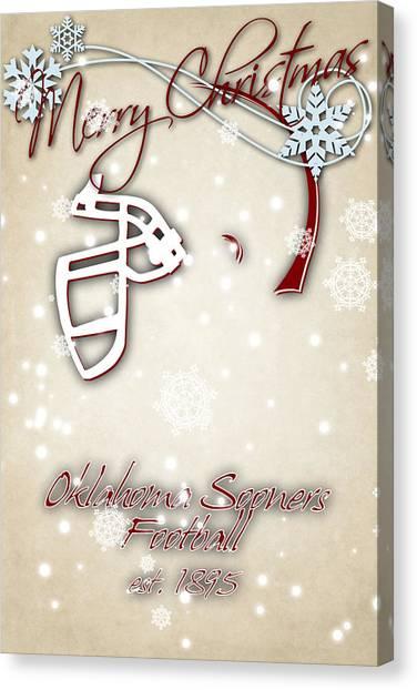 Oklahoma State University Canvas Print - Oklahoma Sooners Christmas Card 2 by Joe Hamilton