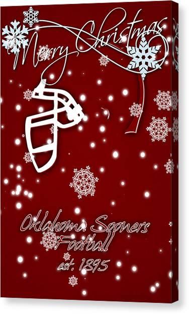 Oklahoma State University Canvas Print - Oklahoma Sooners Christmas Card by Joe Hamilton