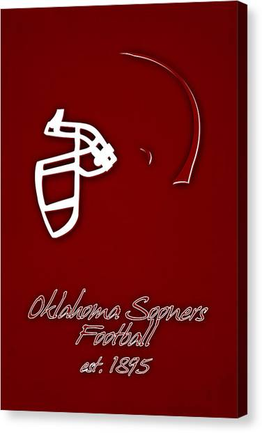 Oklahoma State University Canvas Print - Oklahoma Sooners Helmet by Joe Hamilton