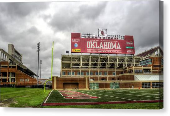 University Of Oklahoma Norman Campus University Of Oklahoma Canvas Print - Oklahoma Sooners by JC Findley