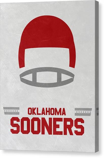 Oklahoma State University Canvas Print - Oklahoma Sooners Vintage Football Art by Joe Hamilton
