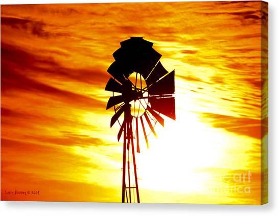 Oklahoma Sun Canvas Print by Larry Keahey