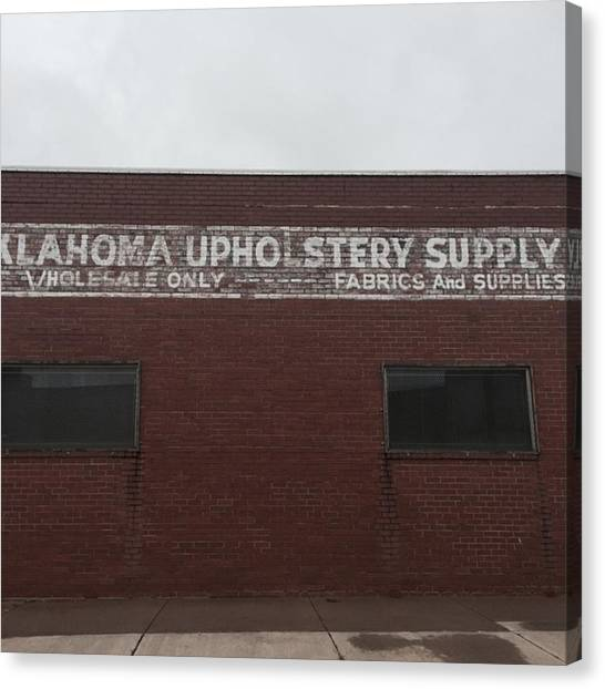 Supplies Canvas Print - Oklahoma Upholstery Supply #oklahoma by Gin Young