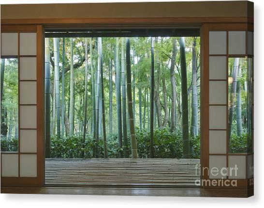 Okochi Sanso Villa Bamboo Garden Canvas Print by Rob Tilley