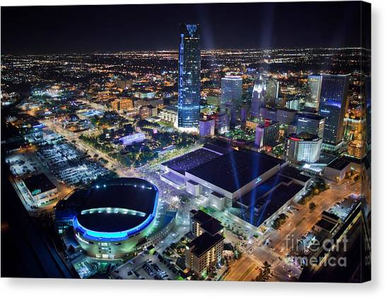 Oklahoma City Thunder Canvas Print - Okt001-26 by Cooper Ross