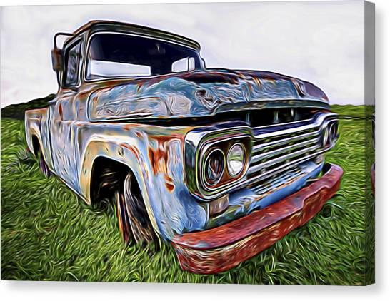 Ol' Blue Canvas Print