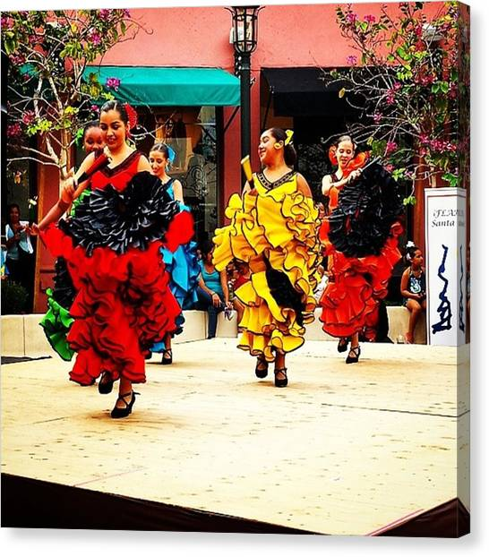 Flamenco Canvas Print - Olě! #santabarbara #fiesta #flamenco by Matthew Gilbert