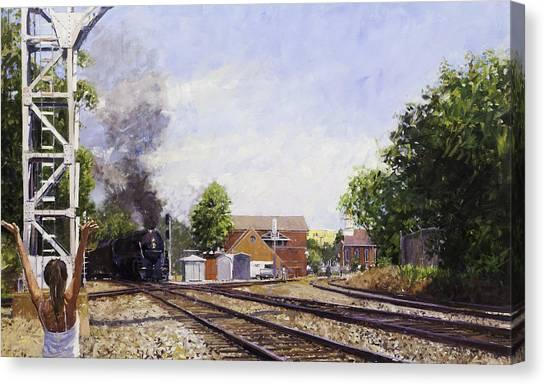 Amtrak Canvas Print - Old #16 On Tour by Edward Thomas