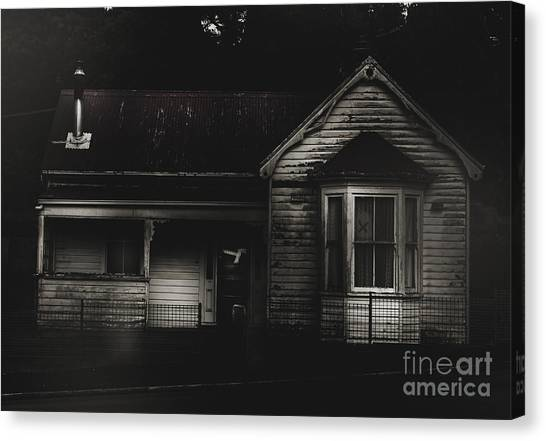Haunted House Canvas Print - Old Abandoned Haunted House Of Horrors by Jorgo Photography - Wall Art Gallery