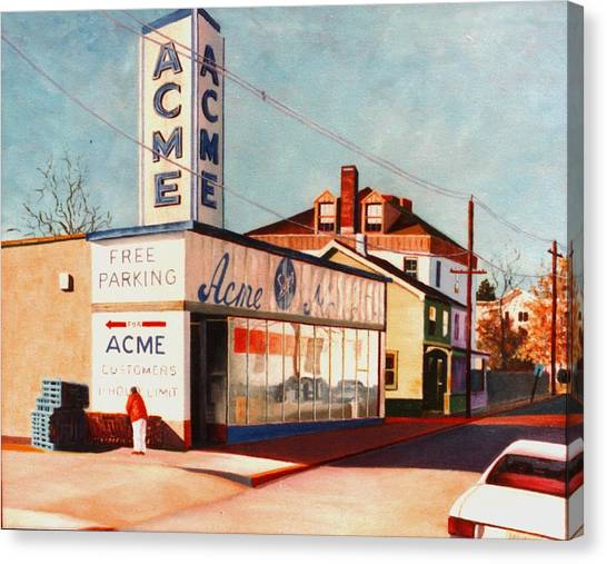 Old Acme Lambertville Nj Canvas Print by Robert Henne