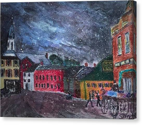 Old Amesbury Early Winter Canvas Print