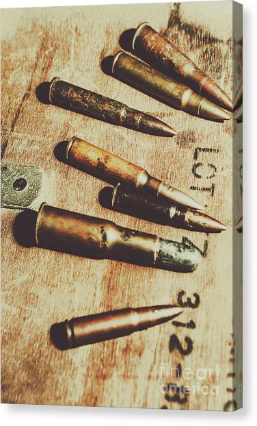 Army Canvas Print - Old Ammunition by Jorgo Photography - Wall Art Gallery