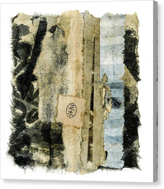 Torn Paper Collage Canvas Print - Old And New by Carol Leigh